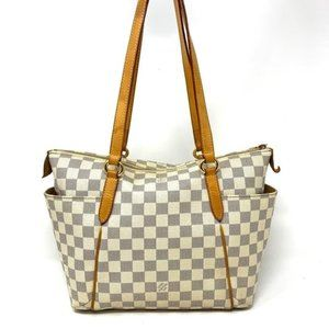 Auth Louis Vuitton Damier Azur Totally PM Tote Bag